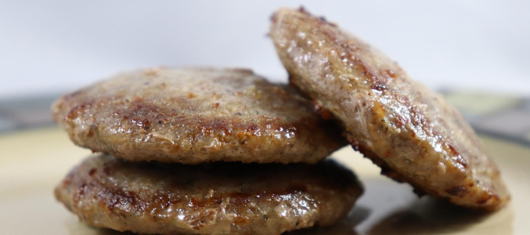 Breakfast Patties Made with Vejje Italian Sausage Free Mix